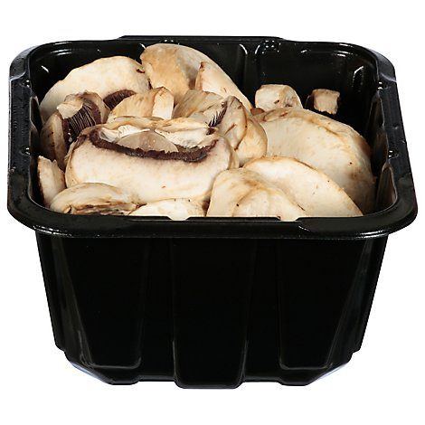 Mushrooms White Sliced Prepacked - 8 Oz