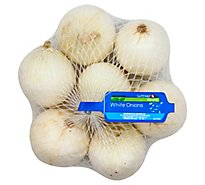 Signature Farms Onions White Prepacked - 3 Lb