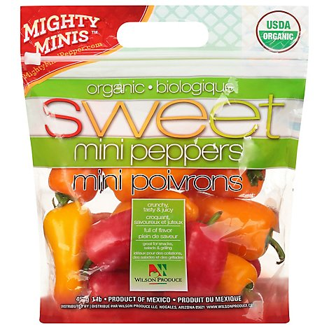 Peppers Bell Peppers Sweet Mini Organic Prepacked - 16 Oz