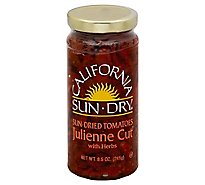 California Sun Dry Tomatoes Sun Dried Julienne Cut with Herbs - 8.5 Oz