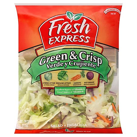 Fresh Express Salad Greens Green & Crisp - 11 Oz