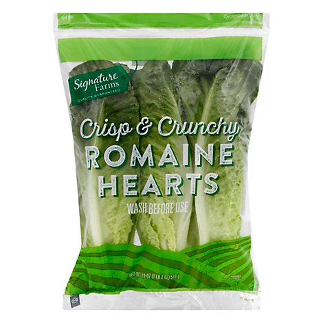 Romaine Hearts Prepackaged - 3 Count