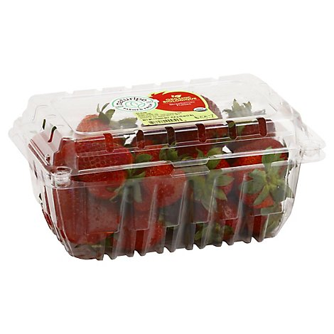 Organic Strawberries Prepackaged - 1 Lb