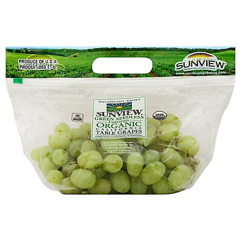 Grapes Green Seedless Organic