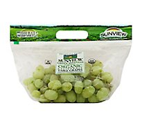 Green Organic Seedless Grapes - 2 Lb