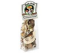 Mushrooms Dried Organic Medley Prepacked - 1 Oz