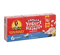 Sun-Maid Raisins Vanilla Yogurt 6 Count - 6-1 Oz