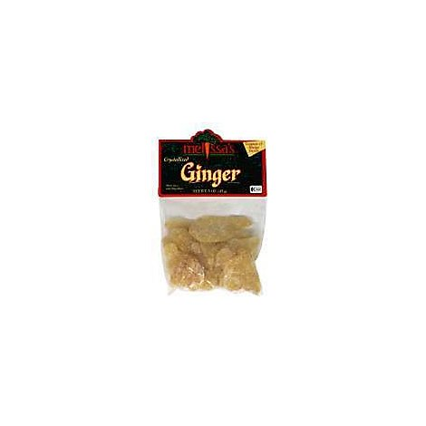 Melissas Crystallized Ginger Prepacked - 3 Oz