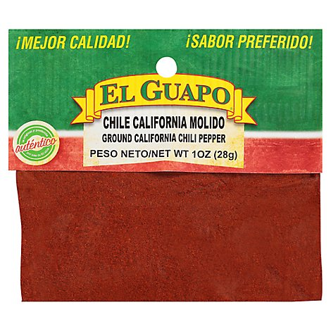 El Guapo Chili Pepper California - 1 Oz