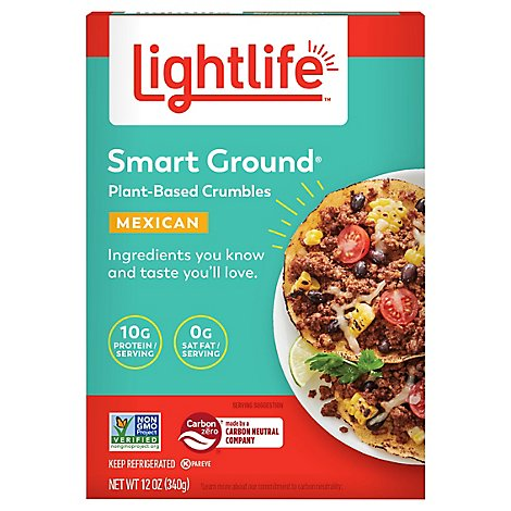 Lightlife Smart Ground Mexican Crumbles Meatless - 12 Oz