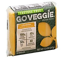 GO VEGGIE Cheese Alternatives Lactose Free Cheddar Style Singles 12 Count - 7.3 Oz