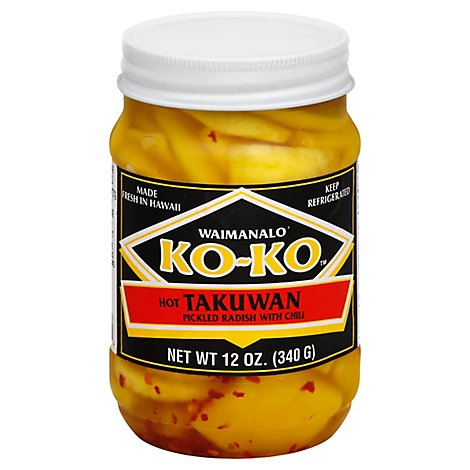Koko Takuan Radish With Chili Prepacked - 12 Oz