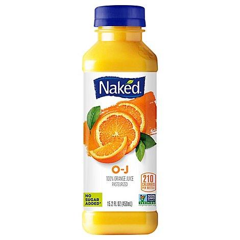 Naked Pure Fruit O-J, 100% Orange Juice (15.2 fl oz) from