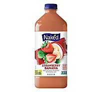 Naked Juice Smoothie Pure Fruit Strawberry Banana - 64 Fl. Oz.