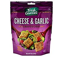 Fresh Gourmet Croutons Premium Cheese & Garlic - 5 Oz
