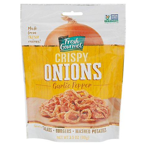 Fresh Gourmet Garlic Pepper Crispy Onions - 3.5 Oz