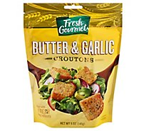 Fresh Gourmet Croutons Premium Butter & Garlic - 5 Oz