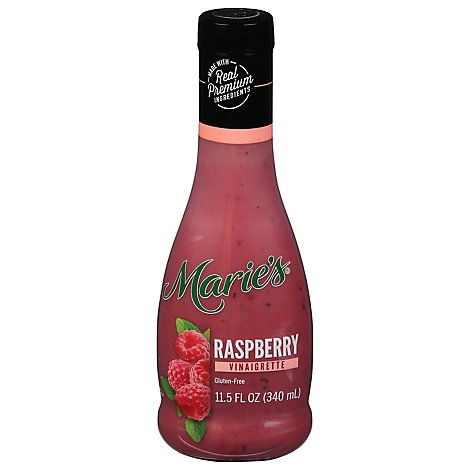 Maries Vinaigrette Real Premium Non Gmo Oil Raspberry - 11.5 Fl. Oz.