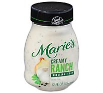 Maries Salad Dressing & Dip Real Premium Non Gmo Oil Creamy Ranch - 12 Fl. Oz.