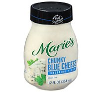 Maries Salad Dressing & Dip Real Premium Non Gmo Oil Chunky Blue Cheese - 12 Fl. Oz.