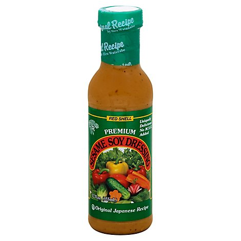 Red Shell Salad Dressing Sesame Soy - 12 Fl. Oz.