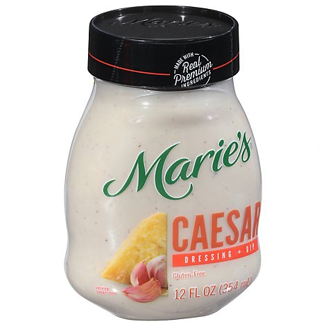 Maries Salad Dressing & Dip Real Premium Non Gmo Oil Caesar - 12 Fl. Oz.