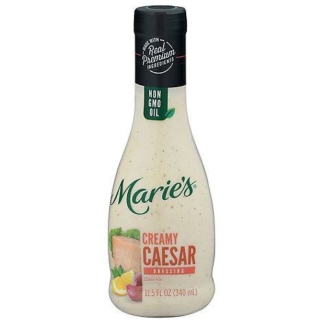 Maries Salad Dressing Real Premium Non Gmo Oil Creamy Caesar - 11.5 Fl. Oz.