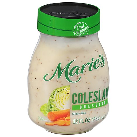 Maries Salad Dressing Real Premium Non Gmo Oil Original Coleslaw - 12 Fl. Oz.