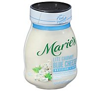 Maries Salad Dressing & Dip Real Premium Non Gmo Oil Chunky Blue Cheese Lite - 12 Fl. Oz.