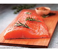 Seafood Counter Fish Salmon Fresh Atlantic Salmon Fillet Color Added - 1.00 LB