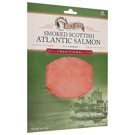 Echo Falls Salmon Scottish Oakwood Smoked - 4 Oz