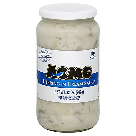 Acme Herring Cream Fresh - 32 Oz