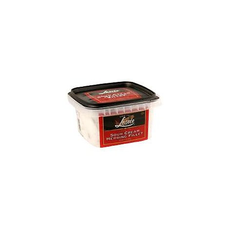 LASCCO Premium Herring Fillet Sour Cream - 12 Oz