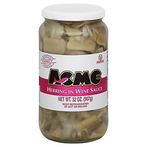 Acme Herring In Wine Sauce - 32 Oz