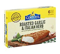 Gortons Fish Fillets Breaded Roasted Garlic & Italian Herb 6 Count - 11 Oz