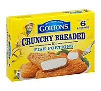 Gortons Fish Fillets 100% Real Wild Caught Crunchy Breaded 6 Count - 11.4 Oz