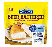 Gortons Fish Fillets 100% Real Wild Caught Beer Battered 10 Count - 18.2 Oz