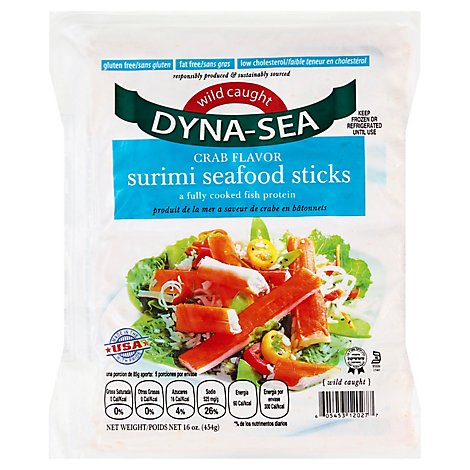 Dynasea Kosher Imitation Crab Stick Frozen - 16 Oz