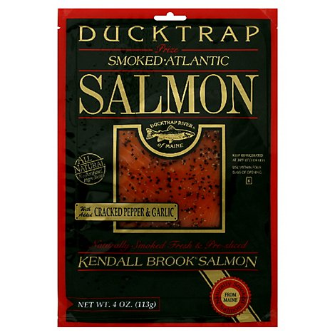 Ducktrap Kendall Brook Salmon Atlantic With Added Cracked Pepper & Garlic - 4 Oz