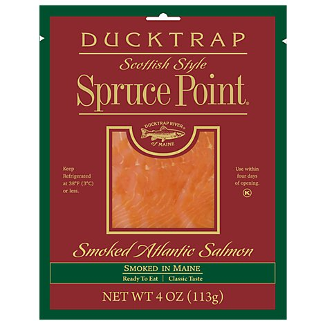 Ducktrap Atlantic Salmon Smoked Scottish Style Spruce Point - 4 Oz