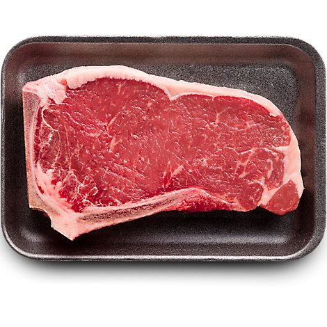 USDA Choice Beef Top Loin New York Strip Steak Bone In - 1.00 Lb.