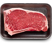 USDA Choice Beef Top Loin New York Strip Steak Bone In Prepacked - 1.00 Lb