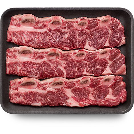 Meat Counter Beef USDA Choice Ribs Chuck Flanken Style Ribs - 1.50 LB