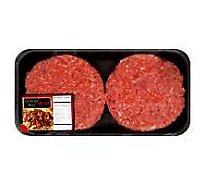 Meat Counter Ground Beef Hamburger Patties 80% Lean 20% Fat Seasoned Steakhouse - 1 Lb.
