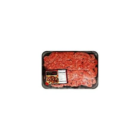 Meat Counter Beef Ground Beef For Chili 80% Lean 20% Fat Fresh - 1.00 LB
