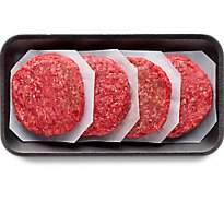 Meat Counter Ground Beef Hamburger Patties 80% Lean 20% Fat - 1 Lb.