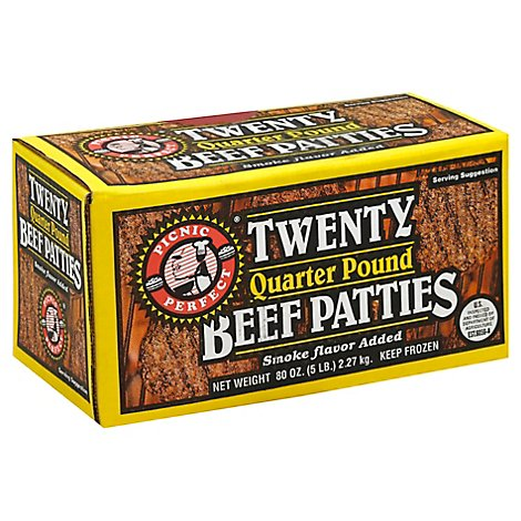 Picnic Perfect Beef Patties - 5 Lb