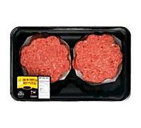 Meat Counter Ground Beef Hamburger Patties 85% Lean 15% Fat Fresh - 1.50 Lb.