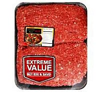 Meat Counter Beef Ground Beef 90% Lean 10% Fat Value Pack - 3.50 LB