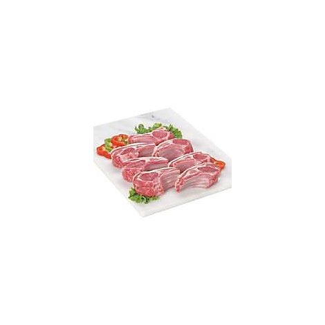Meat Counter Lamb Rib Chop Frenched Imported